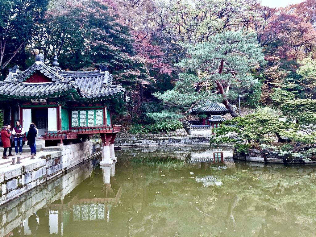 Temple in one of ancient gardens in Seoul