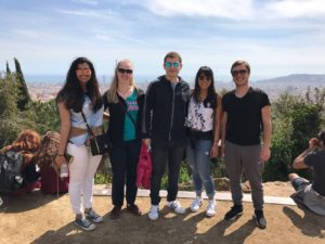 group of people on a viewpoint