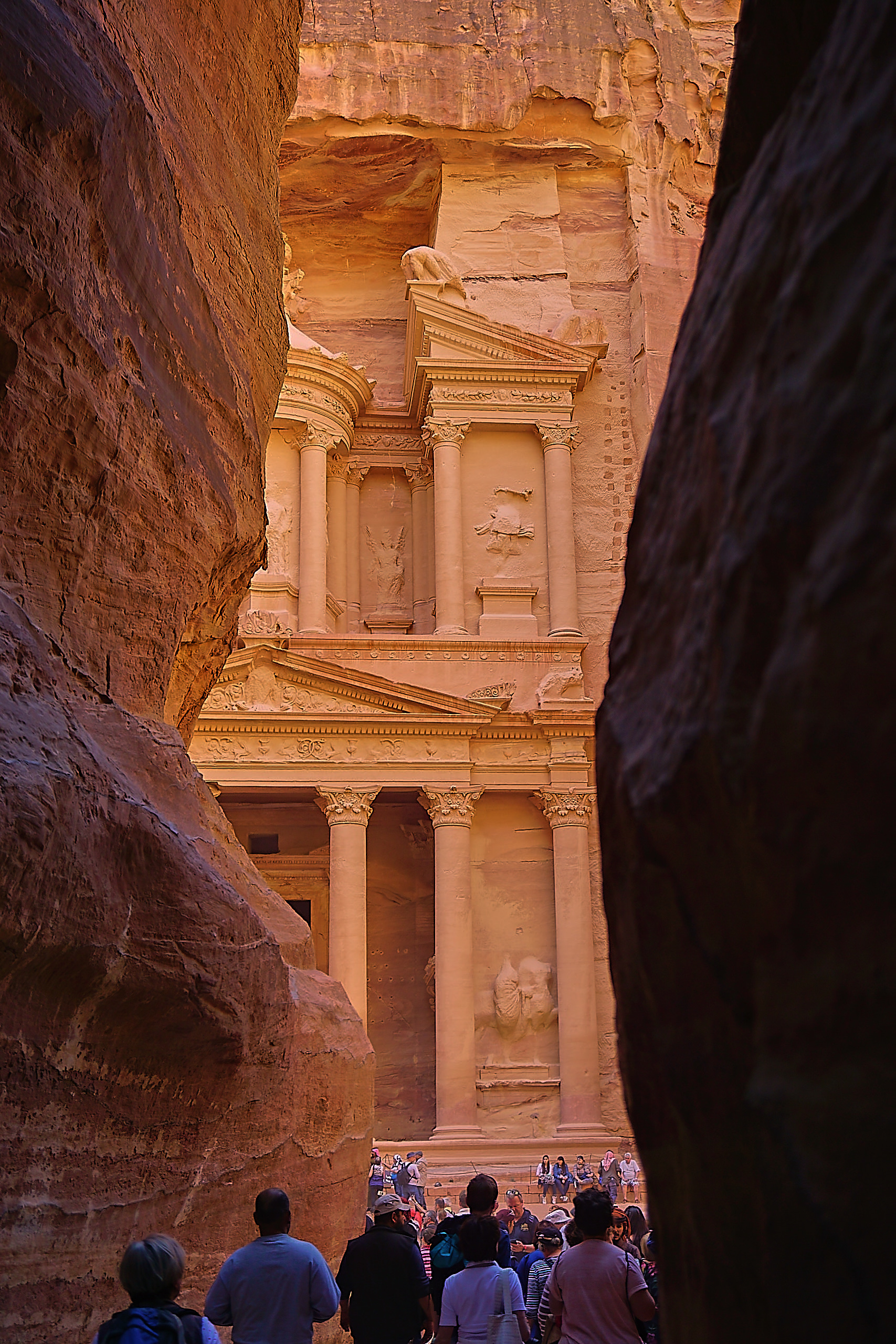 the entrance to the Treasiry in Petra