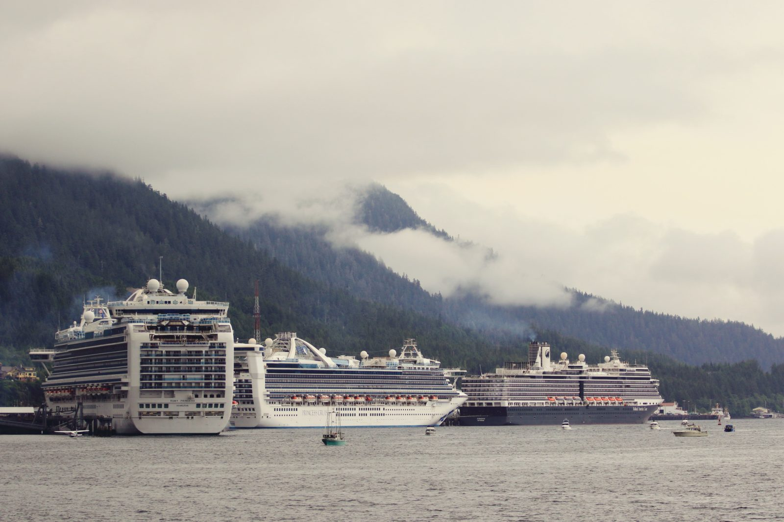 three cruise ships