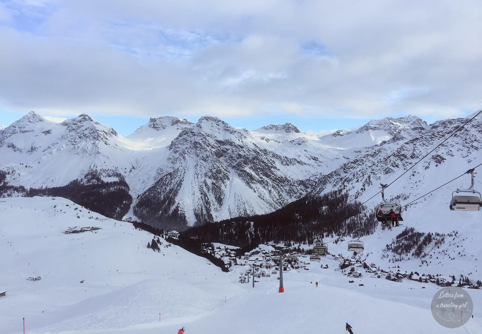 view in Arosa, Switzerland